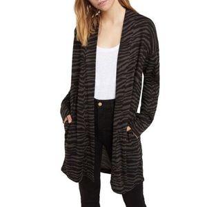 Sanctuary Zebra Print Cozy Cardigan Size Medium